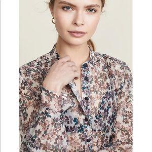 Rag and Bone Susan lavender floral blouse M